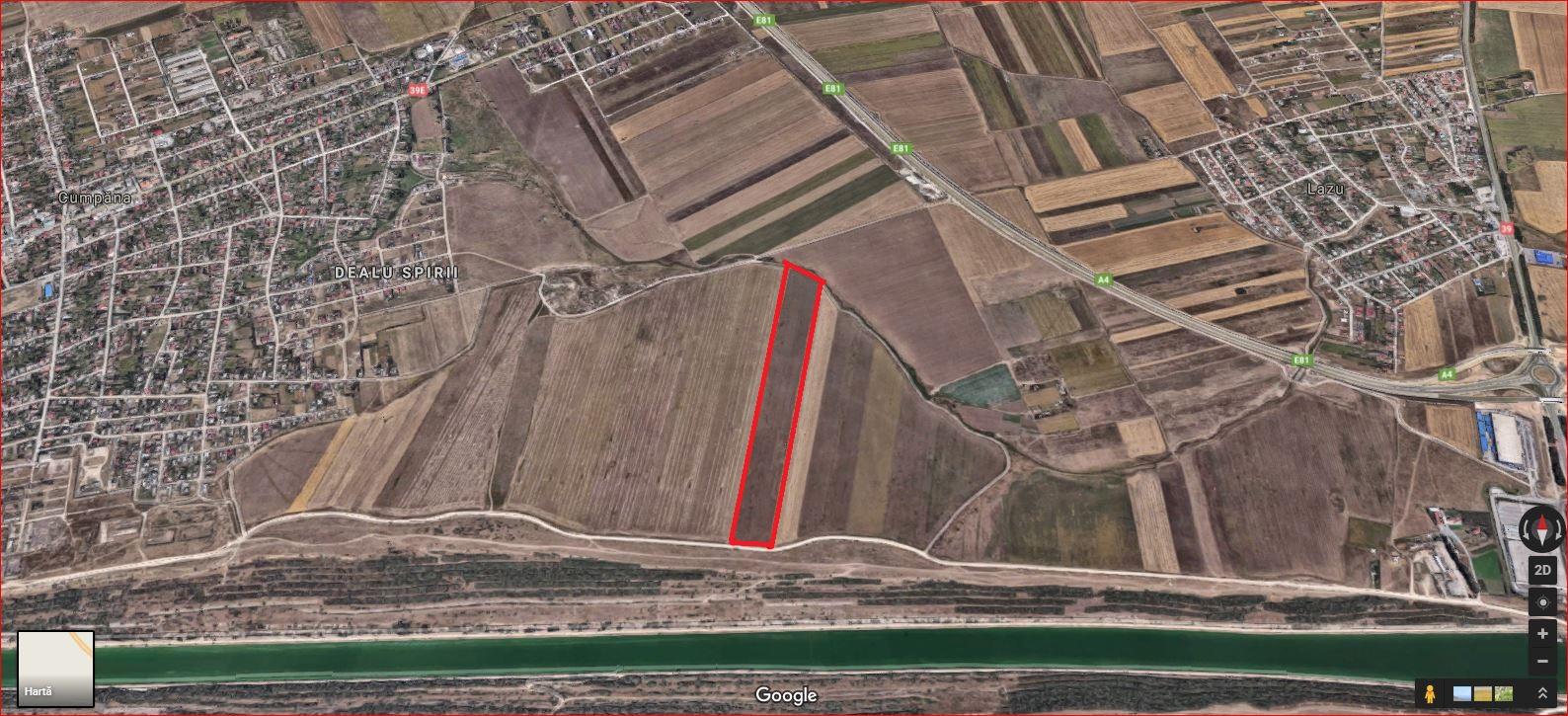 Vanzare teren Canal